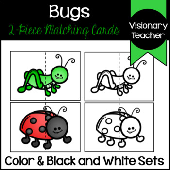 Bugs: 2-piece Matching Picture Cards/Puzzles