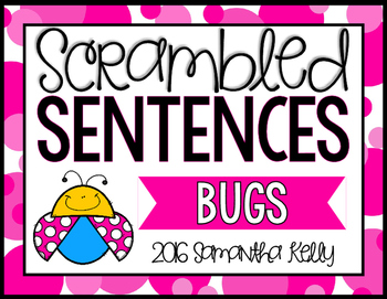Bugs Scrambled Sentence Station