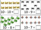 Bugs 5-10 Subtraction Dry Erase Cards