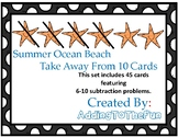 Ocean 5-10 Subtraction Dry Erase Cards