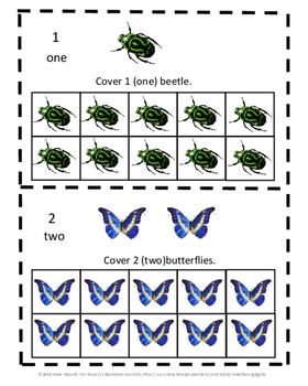 Bugs Butterflies 10 Frame Adding Counting Subtraction Special Education Math