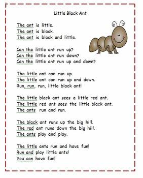 Kindergarten Reading: Bugs Theme