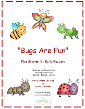Kindergarten Reading: Bugs Theme