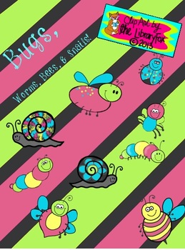 Bugs Bees Worms Snails with Matching Papers and Frames wit