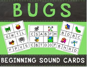 Bugs Beginning Sound Cards