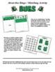 Bugs Bingo / Matching Activities and Games