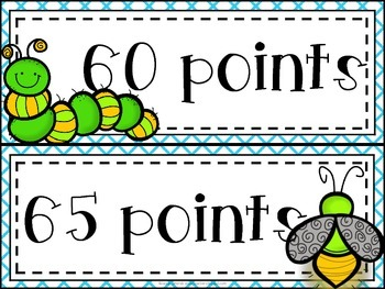 Bugs, Bugs, Bugs! Accelerated Reader Clip Chart **Blue Crisscross Background**