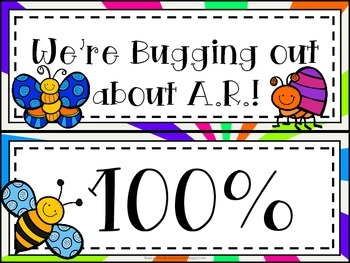 Bugs, Bugs, Bugs! Accelerated Reader Clip Chart *Colorful Starburst Background*