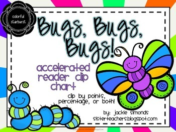 Bugs, Bugs, Bugs! Accelerated Reader Clip Chart *Colorful