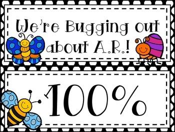 Bugs, Bugs, Bugs! Accelerated Reader Clip Chart **Polka Dot Background**