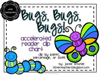 Bugs, Bugs, Bugs! Accelerated Reader Clip Chart **White Background**