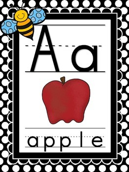 Bugs, Bugs, Bugs! Alphabet **Polka Dot Background**
