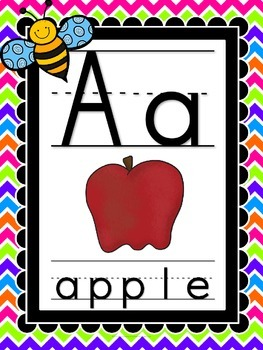 Bugs, Bugs, Bugs! Alphabet **Punch Bowl Chevron Background**