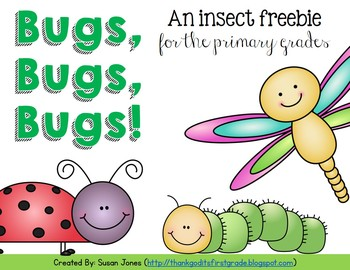 Bugs, Bugs, Bugs! An Insect Freebie