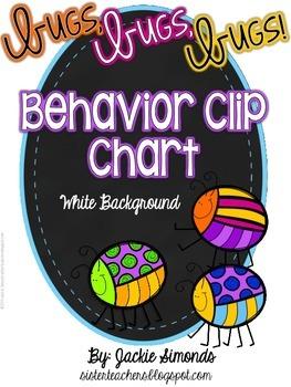 Bugs, Bugs, Bugs! Behavior Clip Chart **White Background**