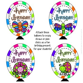 Bugs, Bugs, Bugs! Birthday Bulletin Board Pack *Colorful Starburst Background*