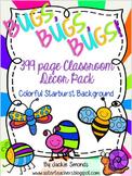 Bugs, Bugs, Bugs! Mega Decor Pack **Colorful Starburst Background**