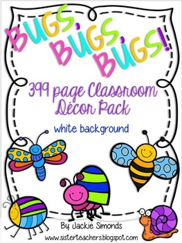 Bugs, Bugs, Bugs! Mega Decor Pack **White Background**