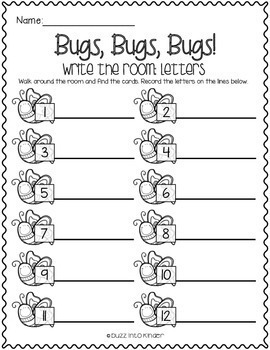 Bugs, Bugs, Bugs! Write the Room for Spring