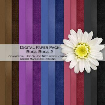 Bugs Bugs Cardstock Digital Papers Package 2