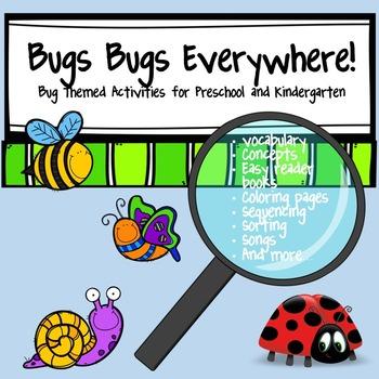 Bugs Bugs Everywhere Activities for Preschool and Kindergarten
