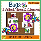Bugs Build 3 Addend Addition & Subtraction Number Sentences