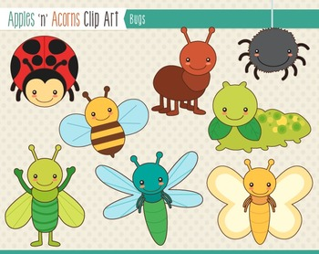 Bugs Clip Art - color and outlines