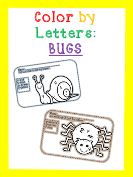 Bugs: Color by letter