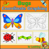 Bugs Coordinate Graphing Mystery Pictures, Spring Ordered