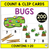 Bugs Count and Clip Cards : 60 Fun Clip Cards for Math Centers