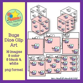 Dice Clip Art - Bugs Theme
