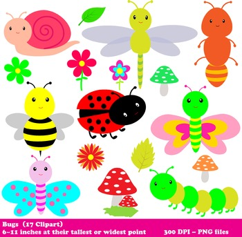 Bugs Digital Clipart