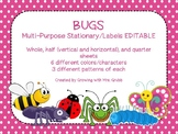 Bugs! EDITABLE Parent Letter, Announcement, Newsletter, St