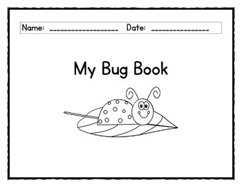 Bugs Emergent Reader and Bug book
