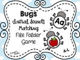 Bugs File Folder Game: Initial Sounds Match A-L