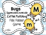 Bugs File Folder Game: UPPERCASE to Lowercase Matching M-Z