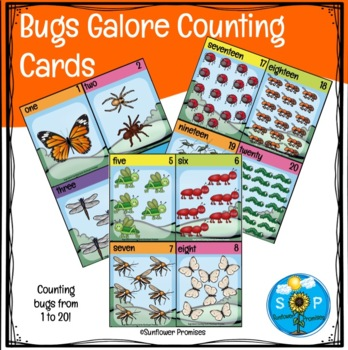 Bugs Galore Counting Cards One to Twenty