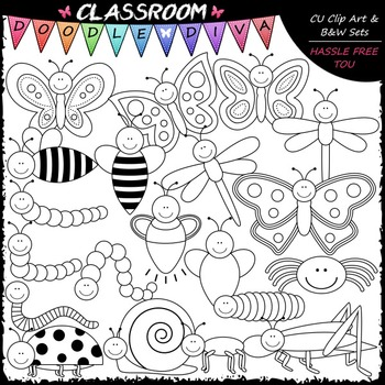 Bugs Galore & More - Clip Art & B&W Set