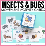 Bugs & Insect Movement Activity Cards for Gross Motor Play & Brain Breaks