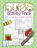 Bugs & Insects Activity Pack Set Math Literacy Games Puzzl
