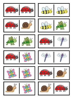 Bugs Insects Bingo Memory Dominoes Game Set Pack