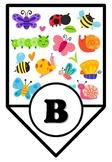 Bugs, Insects, Butterflies Symmetry Art & Bulletin Board Pennant Letters, Bundle
