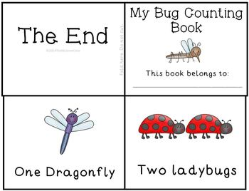 Bugs Insects Counting Emergent Reader Mini Book