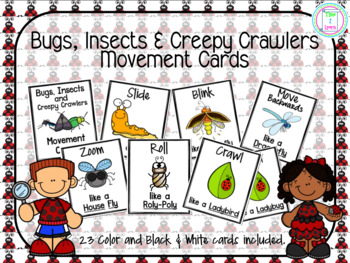Bugs, Insects & Creepy Crawlers Movement Cards