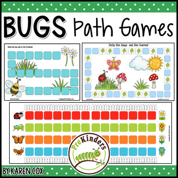 Bugs Insects Path Games - Math, Pre-K Preschool