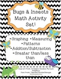 Bugs & Insects Math Activity Pack Set {Graphing, measuring, etc.}