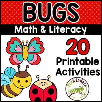 Bugs Insects Printable Math Literacy Activities Pre K Preschool Kindergarten - View Preschool Insects Worksheets For Kindergarten PNG