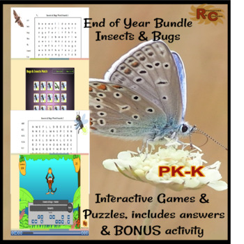 Bugs & Insects Interactive Games & Puzzles Bundle PK-K
