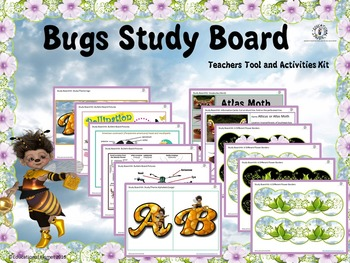 Bugs {Insects} Study Board, Teaching Tool, Activities Kit, And FREEBIE!!!!!