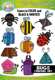Bugs / Insects 2D Icon Shapes Clipart {Zip-A-Dee-Doo-Dah Designs}